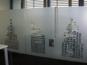 Typographic Imagery - Custom Office Window Film