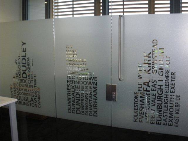 Custom Designed Decorative Window Film