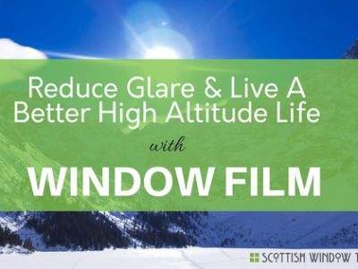 Glare reducing window film
